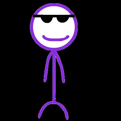 Purple Stickman messages sticker-4
