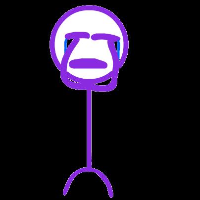 Purple Stickman messages sticker-6