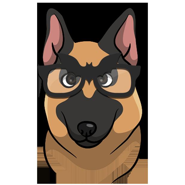 ShepherdMoji - German Shepherd Emoji & Sticker messages sticker-6