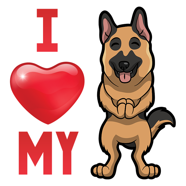 ShepherdMoji - German Shepherd Emoji & Sticker messages sticker-7