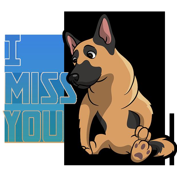 ShepherdMoji - German Shepherd Emoji & Sticker messages sticker-8