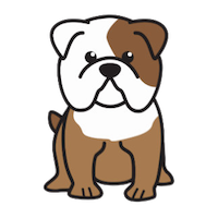 Bulldog Cute - Awesome Emoji And Stickers messages sticker-1