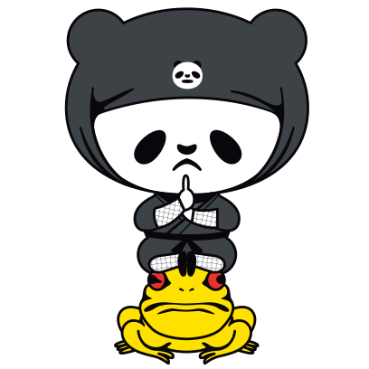PANDA Ninja Panzo messages sticker-5