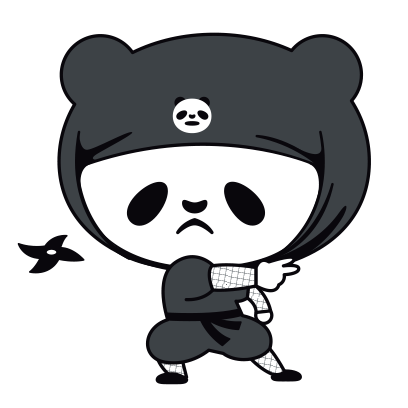 PANDA Ninja Panzo messages sticker-0
