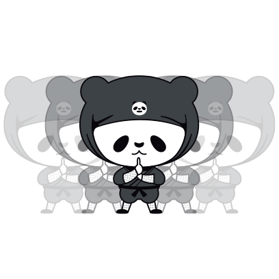 PANDA Ninja Panzo messages sticker-4