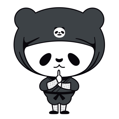 PANDA Ninja Panzo messages sticker-3
