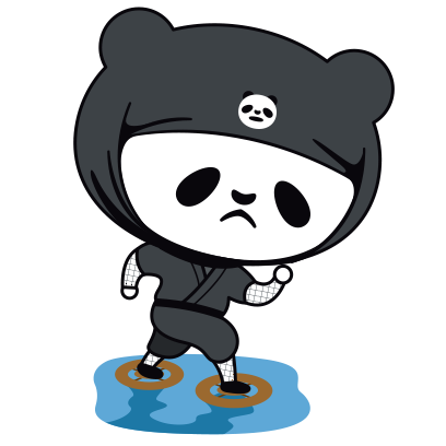 PANDA Ninja Panzo messages sticker-11