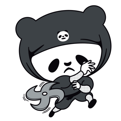 PANDA Ninja Panzo messages sticker-2
