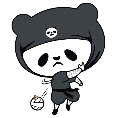 PANDA Ninja Panzo messages sticker-7