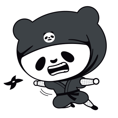 PANDA Ninja Panzo messages sticker-1