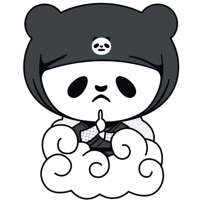 PANDA Ninja Panzo messages sticker-8