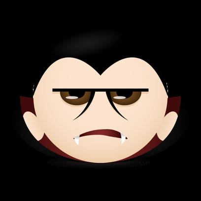 Vampire Emojis messages sticker-10