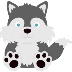 WolvesCute - Awesome Wolves Emoji And Stickers messages sticker-1
