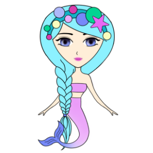 Funny Mermaids Stickers messages sticker-9
