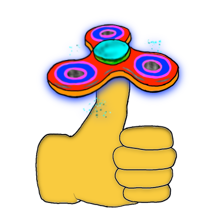 Fidget Spinner Emoji Stickers messages sticker-1