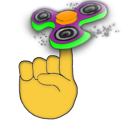 Fidget Spinner Emoji Stickers messages sticker-3