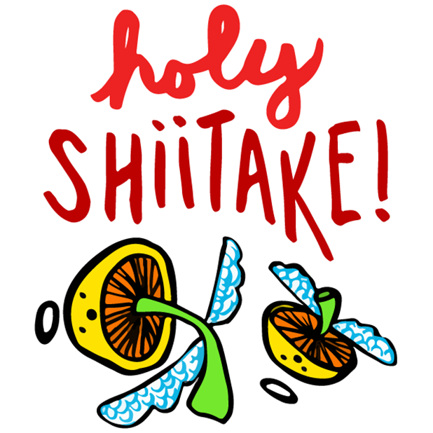 (RED) Food Puns messages sticker-5