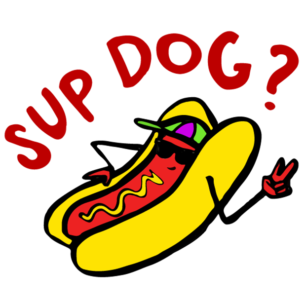 (RED) Food Puns messages sticker-1