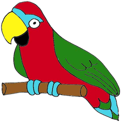 Parrot Stickers messages sticker-1