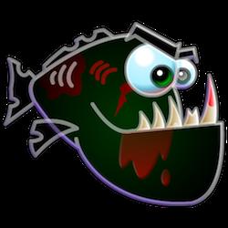 Piranha Stickers messages sticker-11