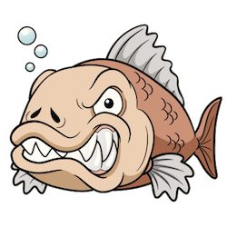 Piranha Stickers messages sticker-1