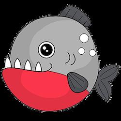 Piranha Stickers messages sticker-6