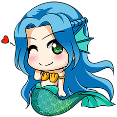 MermaidMojis - Mermaid Emoji And Stickers messages sticker-11