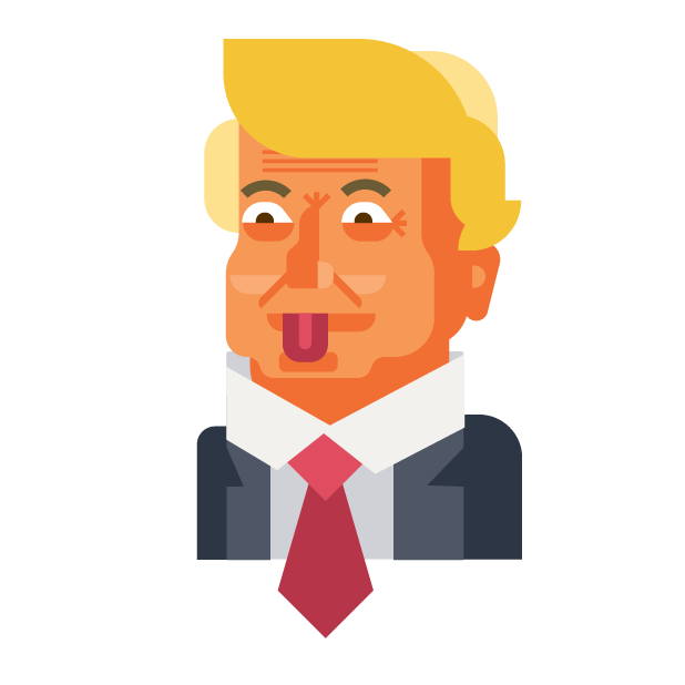 Trump and Friends Sticker Pack messages sticker-8