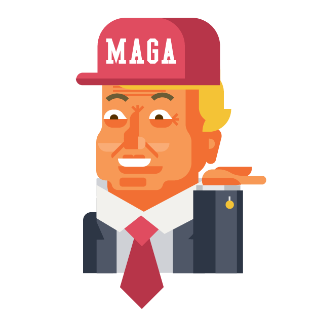 Trump and Friends Sticker Pack messages sticker-7
