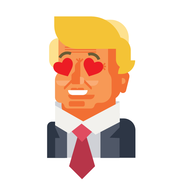 Trump and Friends Sticker Pack messages sticker-4