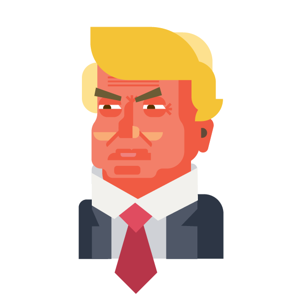 Trump and Friends Sticker Pack messages sticker-1