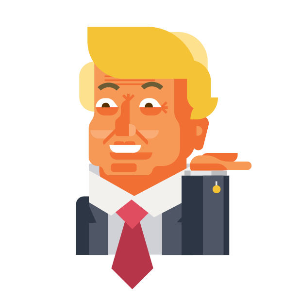Trump and Friends Sticker Pack messages sticker-6