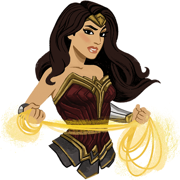 Wonder Woman messages sticker-5
