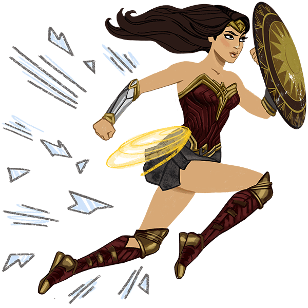 Wonder Woman messages sticker-7