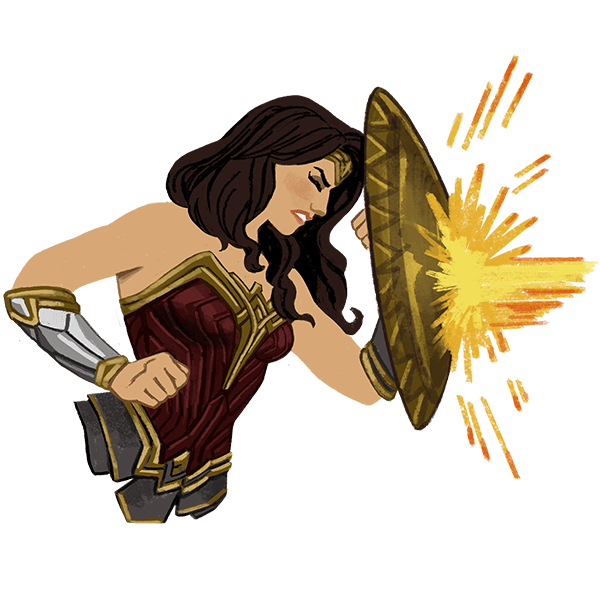 Wonder Woman messages sticker-11