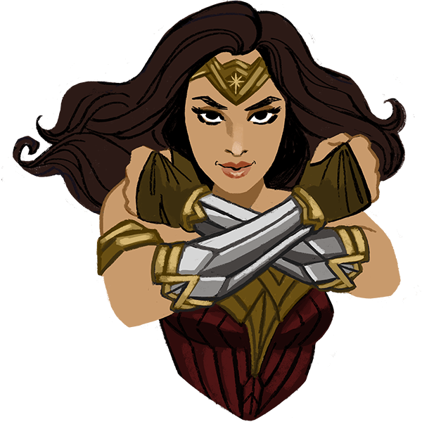 Wonder Woman messages sticker-8