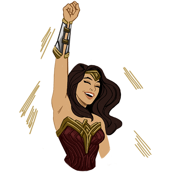 Wonder Woman messages sticker-1