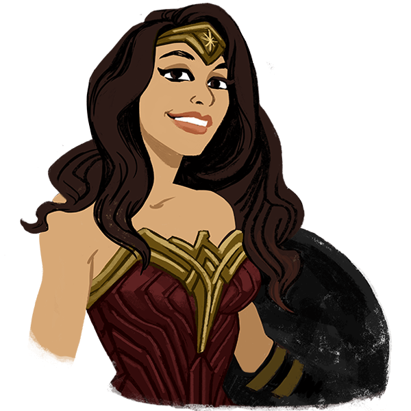 Wonder Woman messages sticker-2