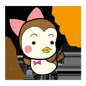 Kawaii Bird Japan messages sticker-0