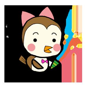 Kawaii Bird Japan messages sticker-2