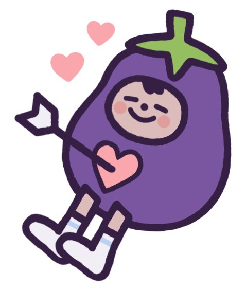 Eggby the Eggplant messages sticker-1