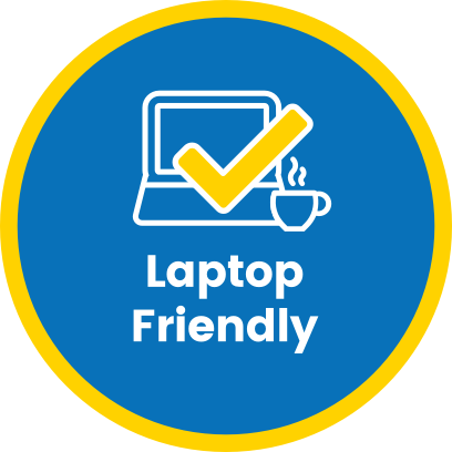 Laptop Friendly - The best places to work remotely messages sticker-0