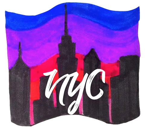 NYC doodled stickers messages sticker-0