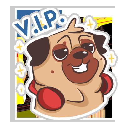 Dog Pug - Emoji Stickers messages sticker-7