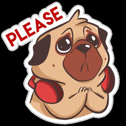 Dog Pug - Emoji Stickers messages sticker-11