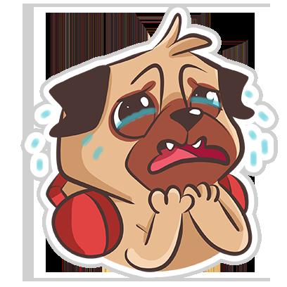 Dog Pug - Emoji Stickers messages sticker-10