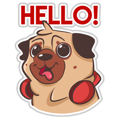 Dog Pug - Emoji Stickers messages sticker-4