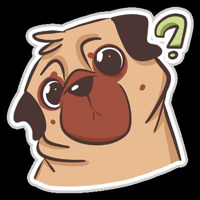 Dog Pug - Emoji Stickers messages sticker-1