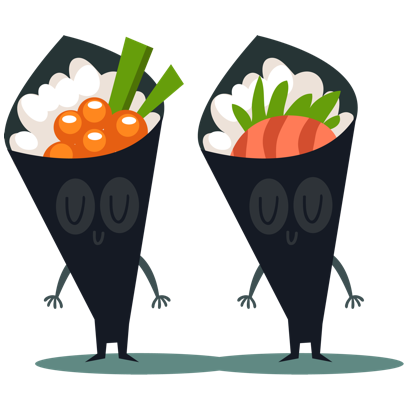 Sushi and Chinese Food Emojis messages sticker-0