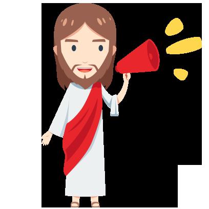Pocket Jesus Sticker and Emojis messages sticker-5